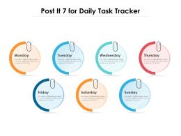Post It 7 For Daily Task Tracker