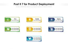 Post It 7 For Product Deployment