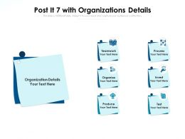 Post It 7 With Organizations Details