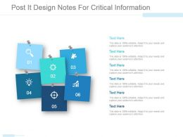 Post It Design Notes For Critical Information Ppt Example File