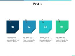Post It Education Ppt Summary Infographic Template