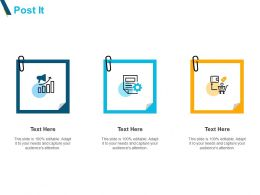 Post It Gears And Checklist Ppt Powerpoint Presentation Pictures Maker