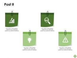 Post It Idea Bulb Ppt Powerpoint Presentation Pictures Templates