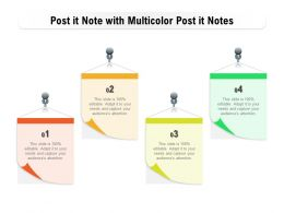 Post It Note With Multicolor Post It Notes