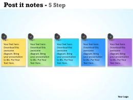 Post it notes 5 step 5