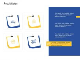 Post It Notes Agile Operations Management Improving Tasks Boosting Team Performance Ppt icon