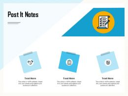 Post It Notes Attention M875 Ppt Powerpoint Presentation Icon Templates
