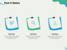 Post It Notes Audience Editable Ppt Powerpoint Presentation Example 2015