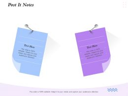 Post It Notes Audiences Attention Ppt Powerpoint Presentation Infographic Template