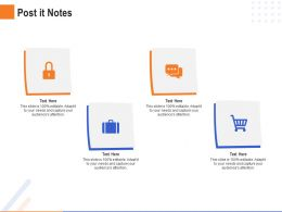 Post It Notes Audiences Attention Repository Ppt Powerpoint Example File