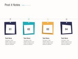 Post It Notes Business Operations Analysis Examples Ppt Information