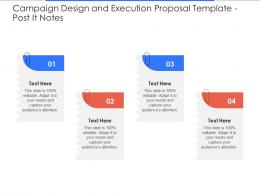 Post It Notes Campaign Design And Execution Proposal Template Ppt Powerpoint Design Ideas