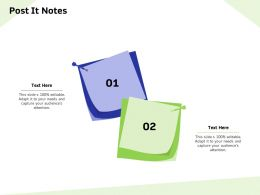 Post It Notes Capture M847 Ppt Powerpoint Presentation Summary Master Slide