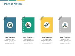 Post It Notes Currency B62 Ppt Powerpoint Presentation File Grid