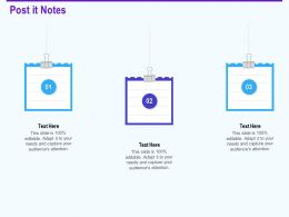 Post It Notes Editable Capture Software Applications Ppt Microsoft