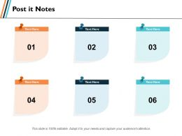 Post It Notes Education Ppt Slides Graphics Template