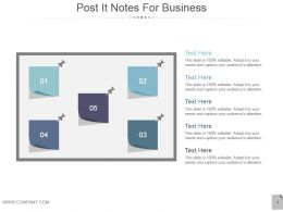 Post It Notes For Business Powerpoint Templates