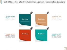 Post It Notes For Effective Work Management Presentation Example