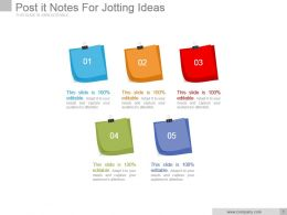 Post It Notes For Jotting Ideas Powerpoint Slide Inspiration