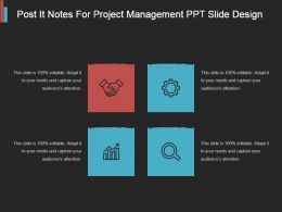 Post It Notes For Project Management Ppt Slide Design