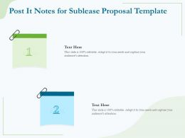 Post It Notes For Sublease Proposal Template Ppt Powerpoint Presentation File Templates