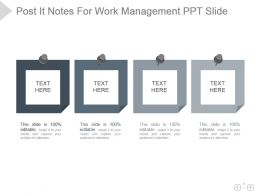 Post It Notes For Work Management Ppt Slide