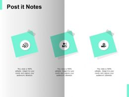 Post It Notes Gears Sticky Ppt Powerpoint Presentation Icon Portrait