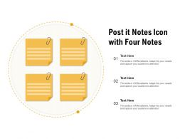 Post It Notes Icon With Four Notes