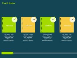 Post It Notes Investment Banking Collection Ppt Summary