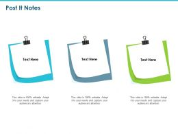 Post It Notes Management Ppt Powerpoint Presentation Ideas Gridlines