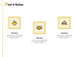 Post It Notes Management Ppt Powerpoint Presentation Ideas Tips