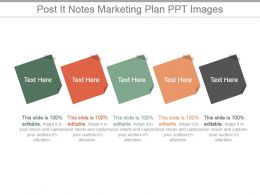 Post It Notes Marketing Plan Ppt Images
