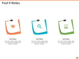 Post It Notes N327 Powerpoint Presentation Brochure