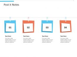 Post It Notes Office Fitness Ppt Slides