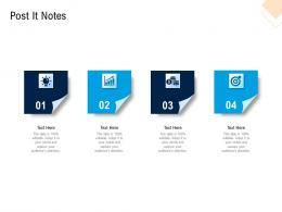 Post It Notes Pitch Deck For Cryptocurrency Funding Ppt Icons