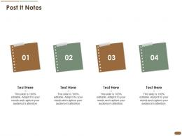 Post It Notes Pitch Deck Raise Post Ipo Debt Banking Institutions Ppt Model Picture