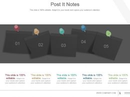 Post It Notes Powerpoint Slide Influencers