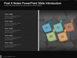 Post It Notes Powerpoint Slide Introduction