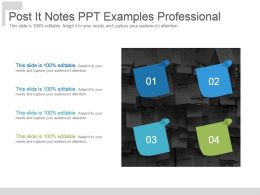 Post It Notes Ppt Examples Professional