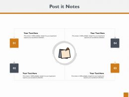 Post It Notes Ppt Powerpoint Presentation Outline Inspiration