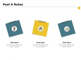 Post It Notes Ppt Powerpoint Presentation Portfolio Examples