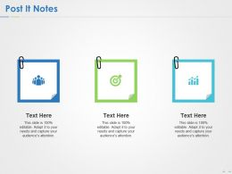 Post It Notes Ppt Powerpoint Presentation Summary Demonstration