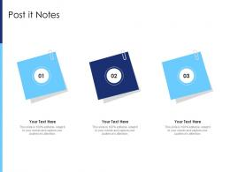 Post It Notes Raise Funds After Market Investment Ppt Infographic Template Background Designs