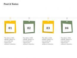 Post It Notes Reverse Side Of Logistics Management Ppt File Samples