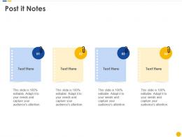 Post IT Notes Software Project Cost Estimation IT Ppt Demonstration