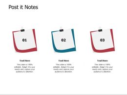 Post It Notes Sticky Notes Ppt Powerpoint Presentation Pictures Ideas