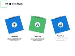 Post It Notes Sticky Ppt Powerpoint Presentation Gallery Guidelines