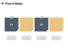 Post It Notes Sticky Process F251 Ppt Powerpoint Presentation Portfolio Graphics Design