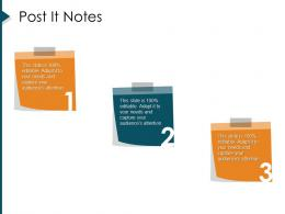 Post It Notes Strategic Management Value Chain Analysis Ppt Guidelines