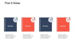 Post It Notes Strategic Mergers Ppt Infographics